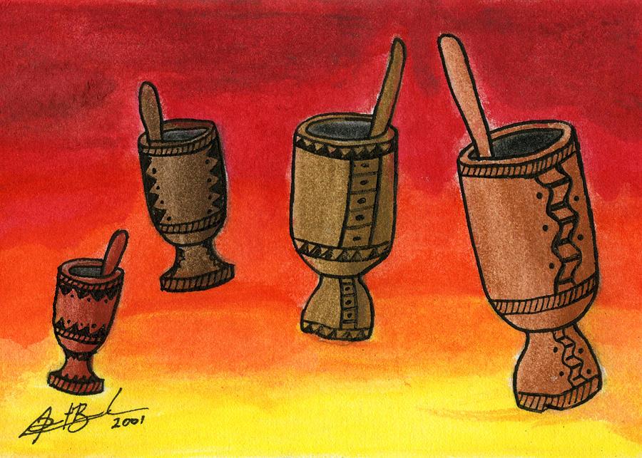 Pilons Painting by Dimitri Beaulieu