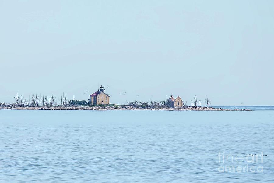 Pilot Island Lighthouse Photograph - Pilot Island Lighthouse by Nikki Vig