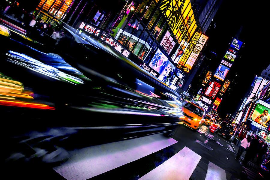 Times Square Photograph - Pimpn It by Az Jackson