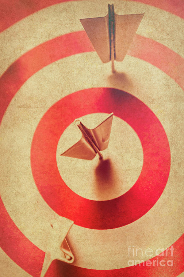 Competition Photograph - Pin Plane Darts Hitting Goals by Jorgo Photography - Wall Art Gallery