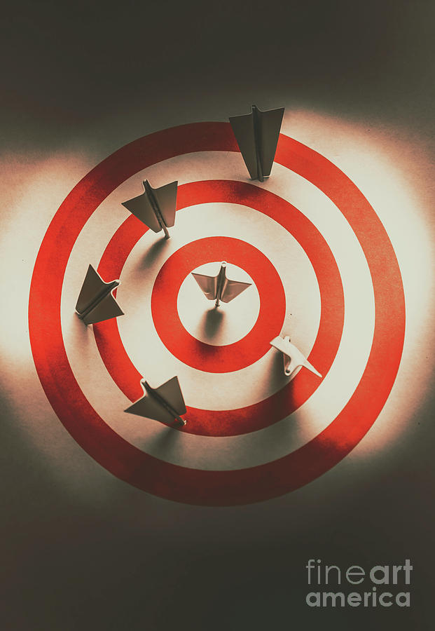 Paper Photograph - Pin Point Your Target Audience by Jorgo Photography - Wall Art Gallery