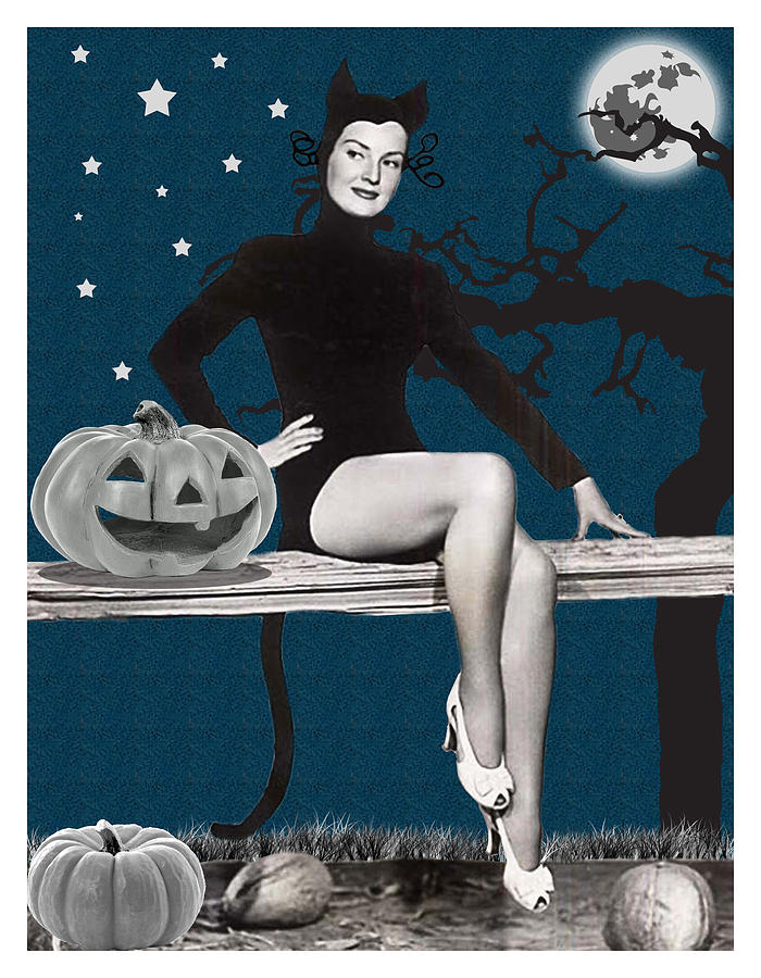 Pin Up Girl In Halloween Costume By Long Shot