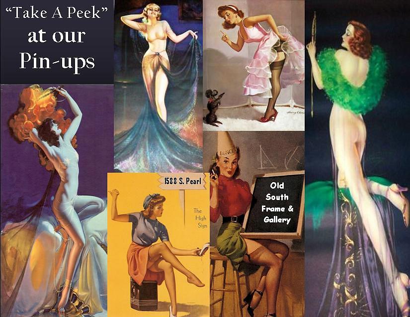 Pin Up Postcard Print by Various