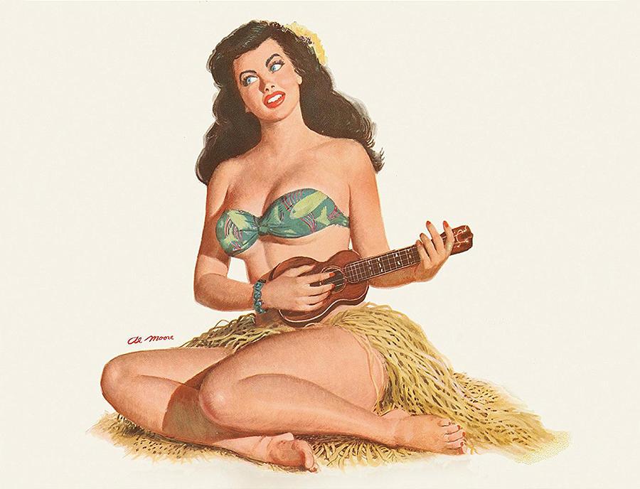 nude hawaiian pin up girl