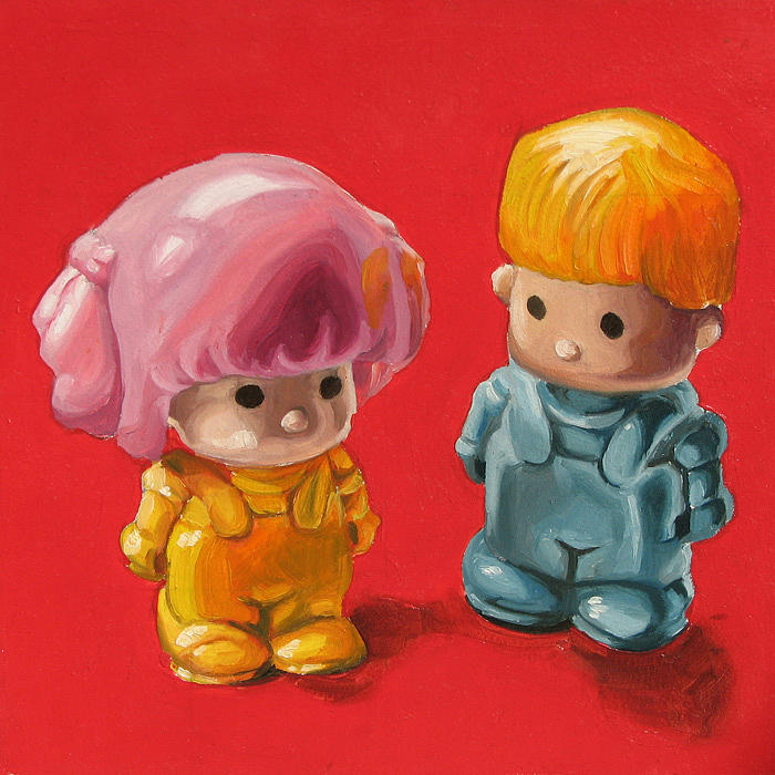 Boy Painting - Pin Y Pon by Lucia Rodriguez