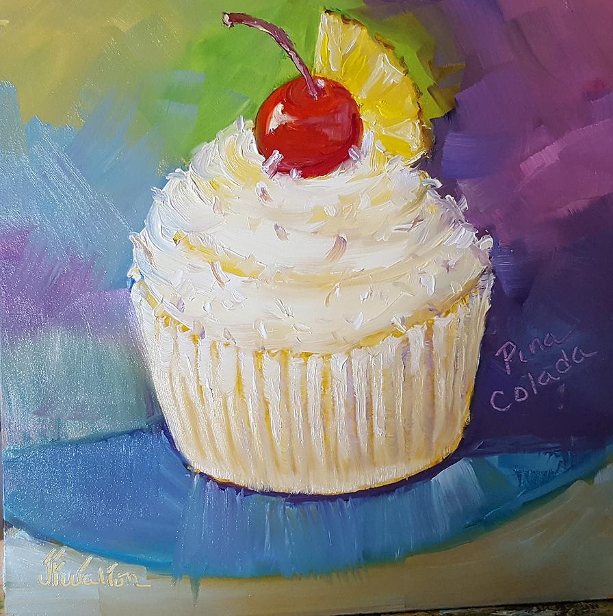 Pina Colada cupcake by Judy Fischer Walton