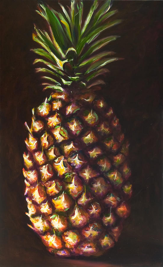 Fruit Painting - Pine Apple by Shannon Grissom