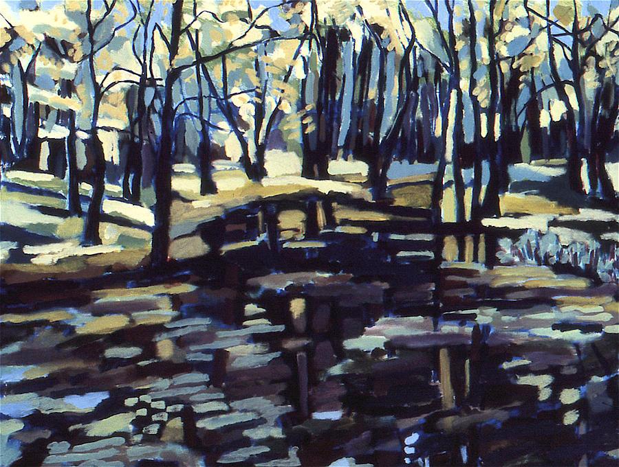 Landscape Painting - Pine Barrens by Doris  Lane Grey