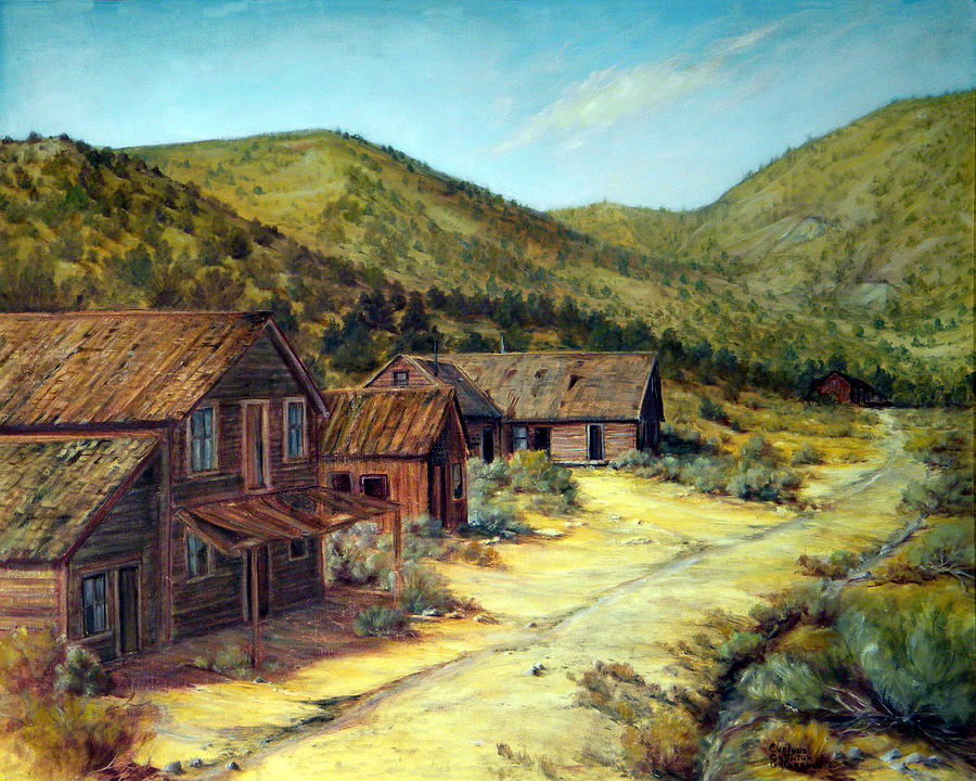 Ghost Towns Painting - Pine Grove Nevada by Evelyne Boynton Grierson
