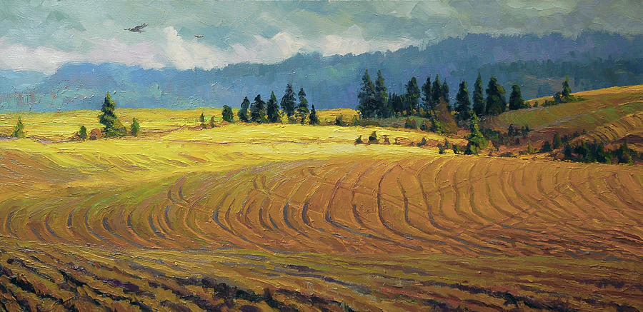 Country Painting - Pine Grove by Steve Henderson