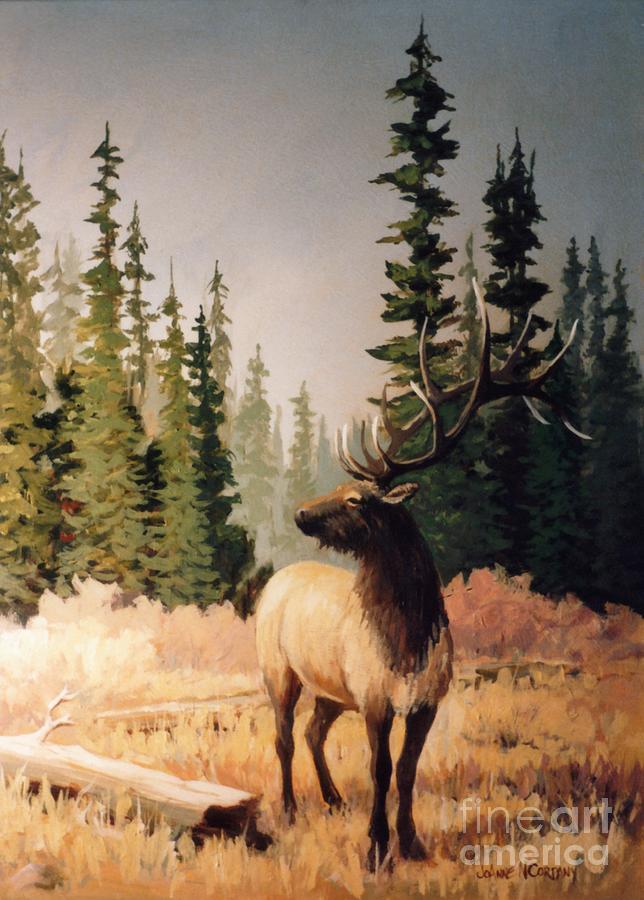 Elk Painting - Pine Meadow Elk by JoAnne Corpany