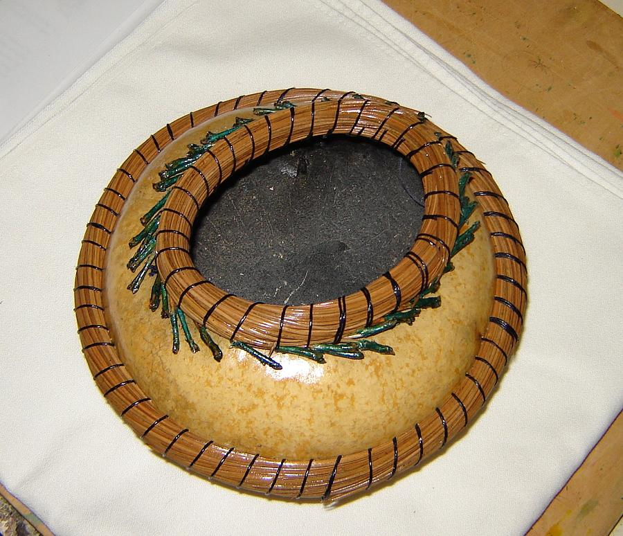 Pine Needles Sculpture - Pine Needle Coiled Bowl by Carrie Cervantes