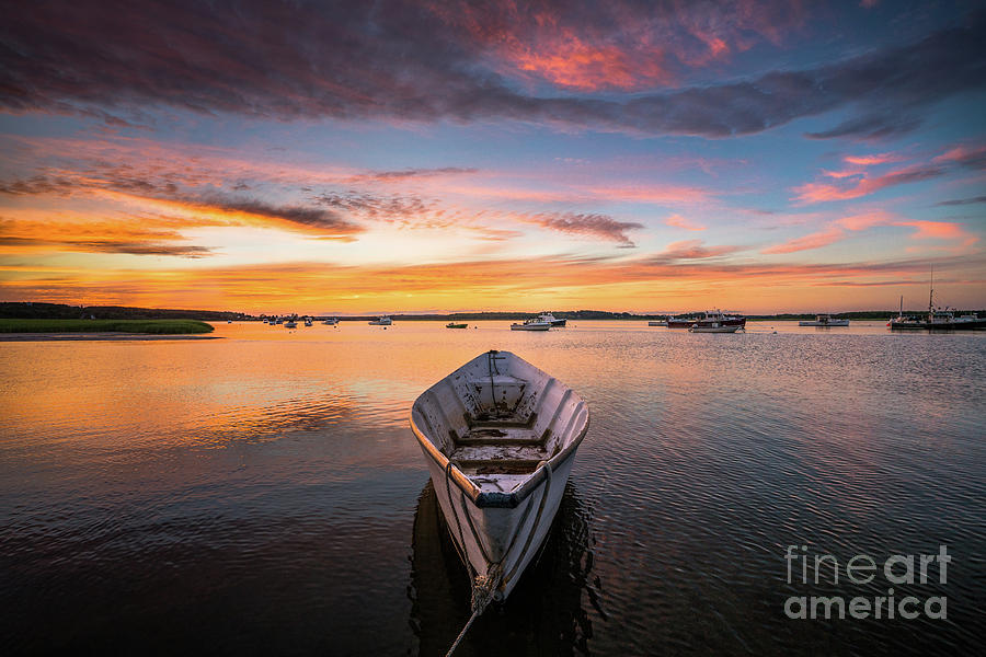 Attraction Photograph - Pine Point Dory at Sunset by Benjamin Williamson
