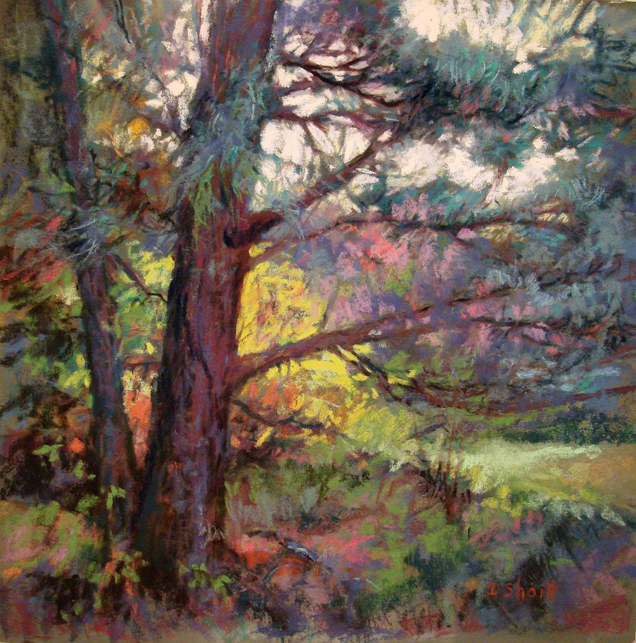 Pine Tree Painting - Pine Tree Dance by Donna Shortt