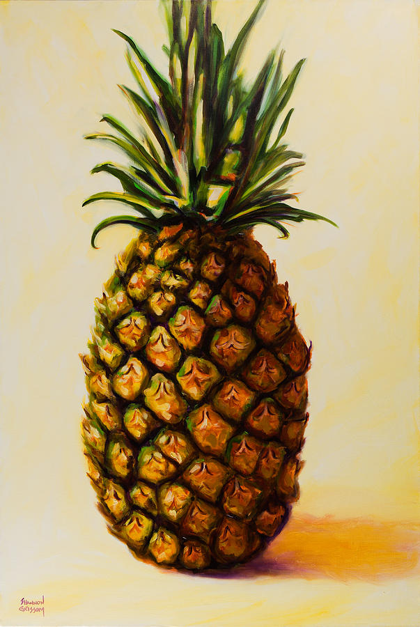 Pineapple Painting - Pineapple Angel by Shannon Grissom