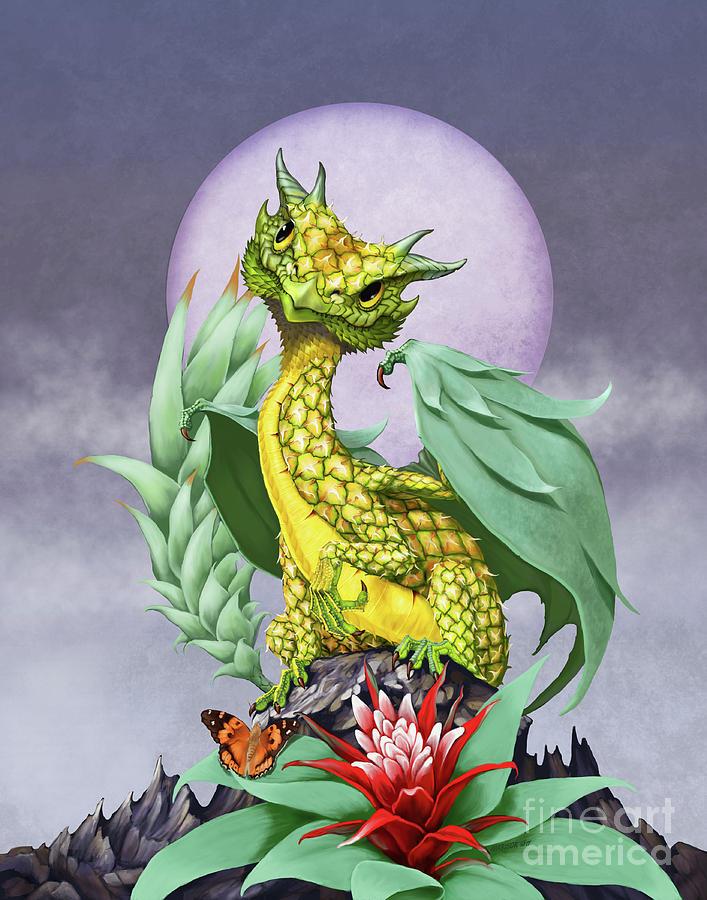 Pineapple Dragon Digital Art by Stanley Morrison