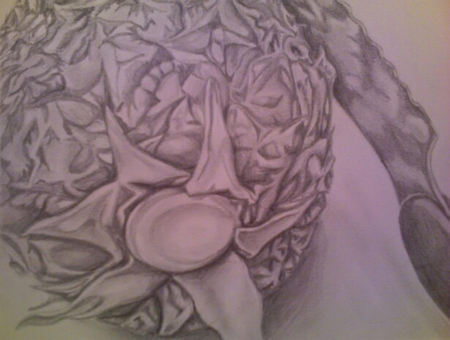 Pineapple Drawing - Pineapple Expression 2 by Steven Santee