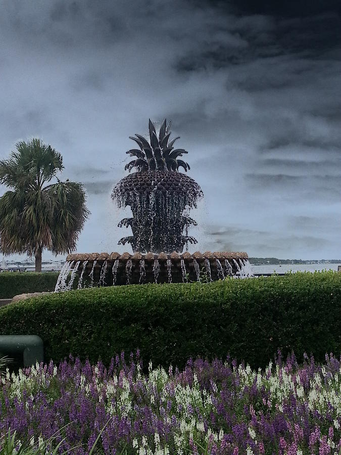 Pineapple Fountain Photograph - Pineapple Fountain by Chris Short