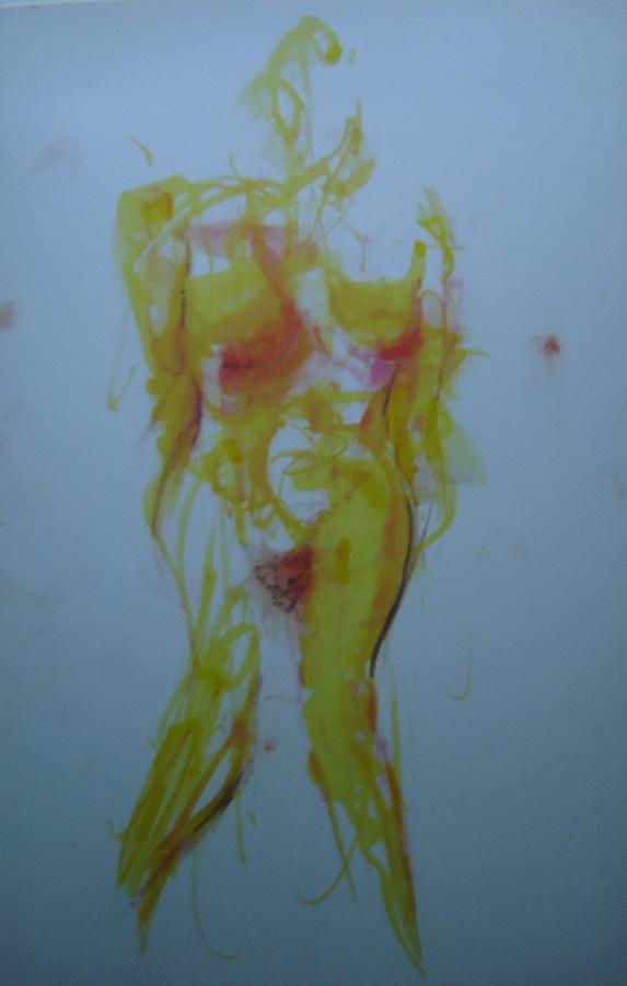 Nude Drawing - Pineapple In Process by Dean Corbin