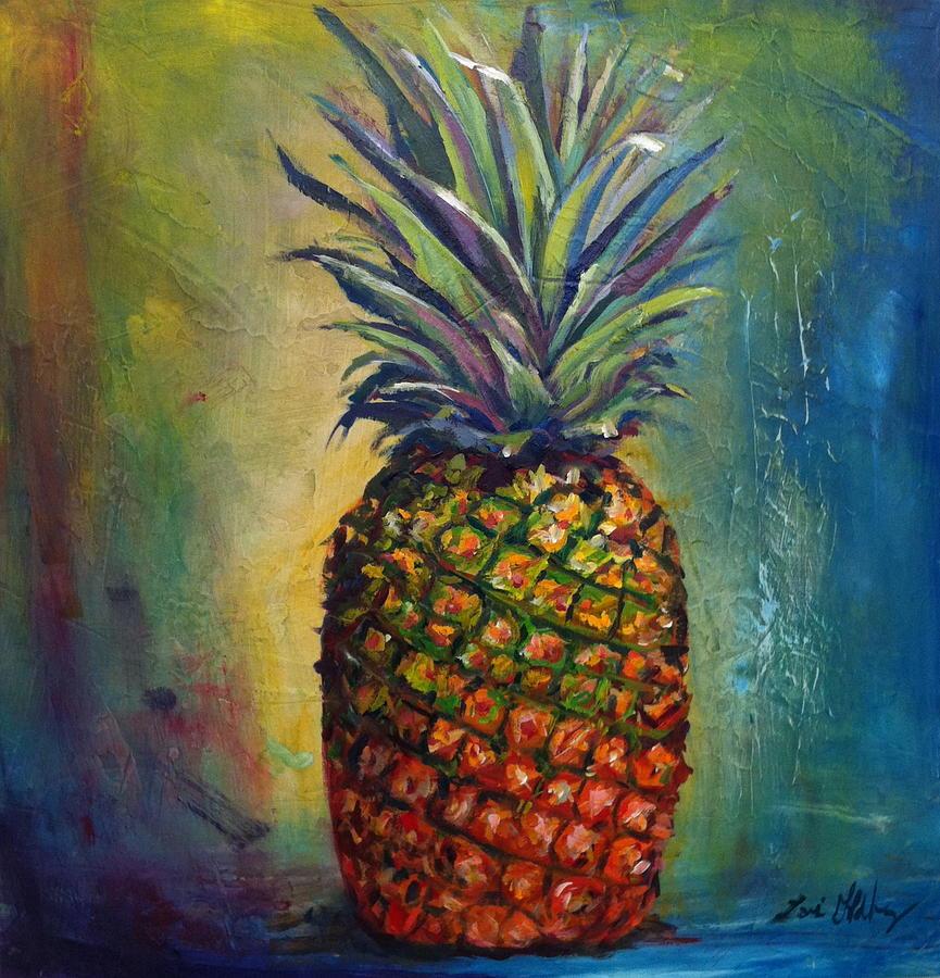 pineapple painting. Fruit Painting - Pineapple By Lori Goldberg C