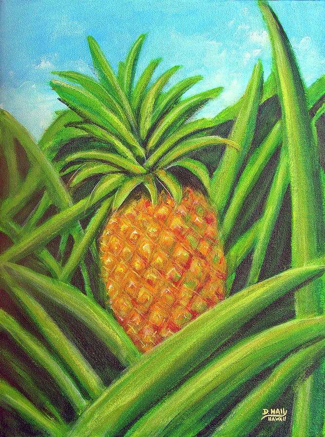 Pineapple Painting - Pineapple Painting #332 by Donald k Hall