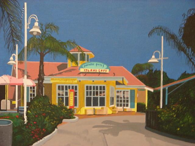 Tropical Painting - Pineapple Petes by David Ellis