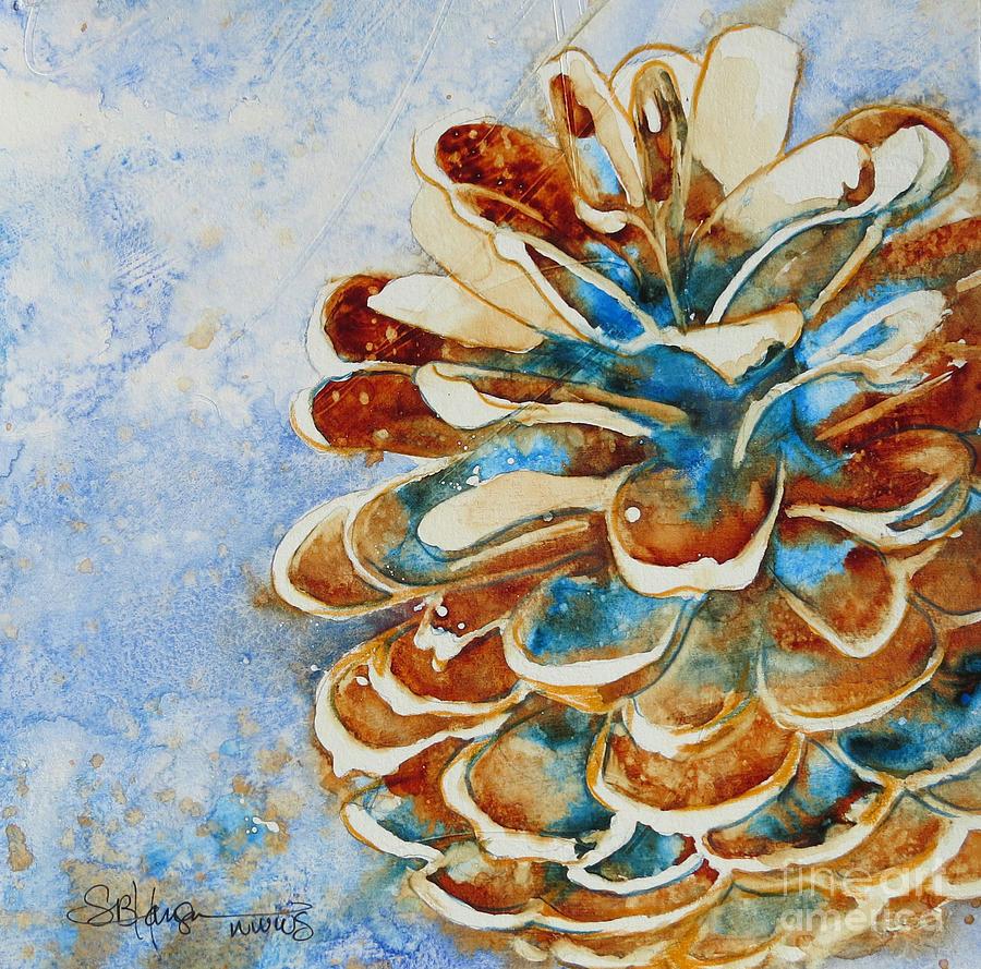 Pinecone Painting - Pinecone Winter by Sarah Hansen