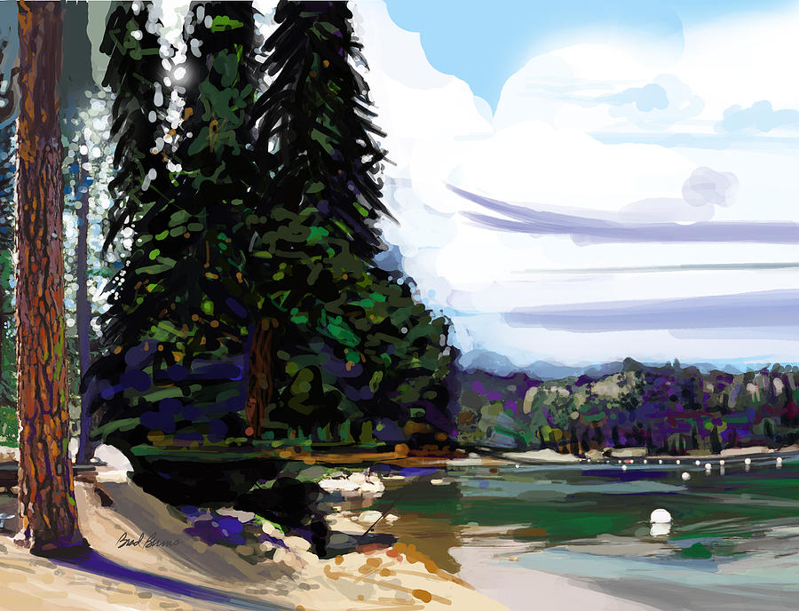 Pinecrest Lake Painting