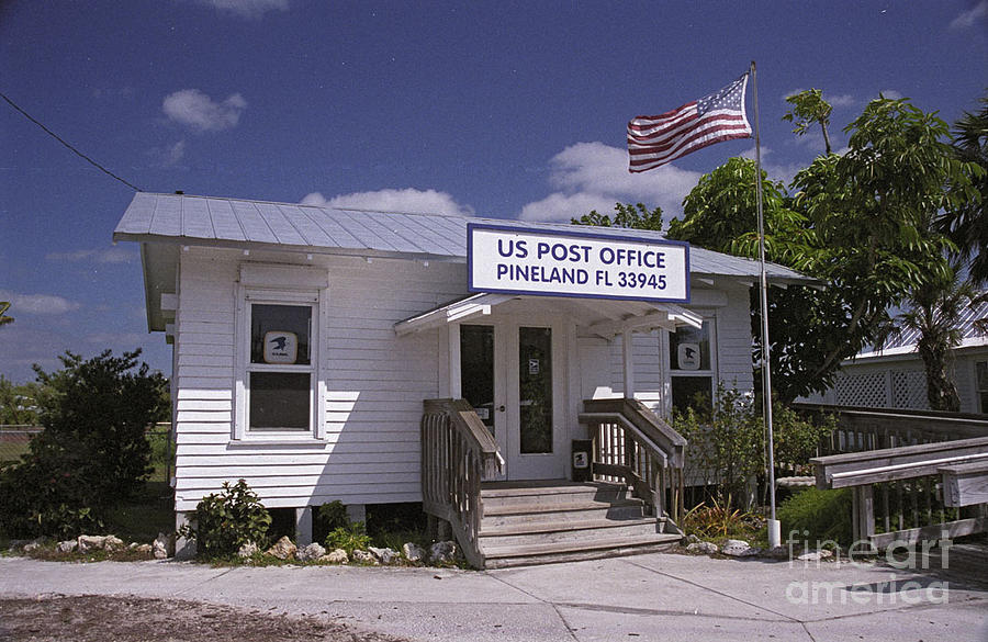 American Flag Photograph - Pineland Post Office by Richard Nickson