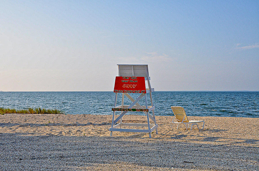Piney Point Photograph - Piney Point Beach by Bill Cannon