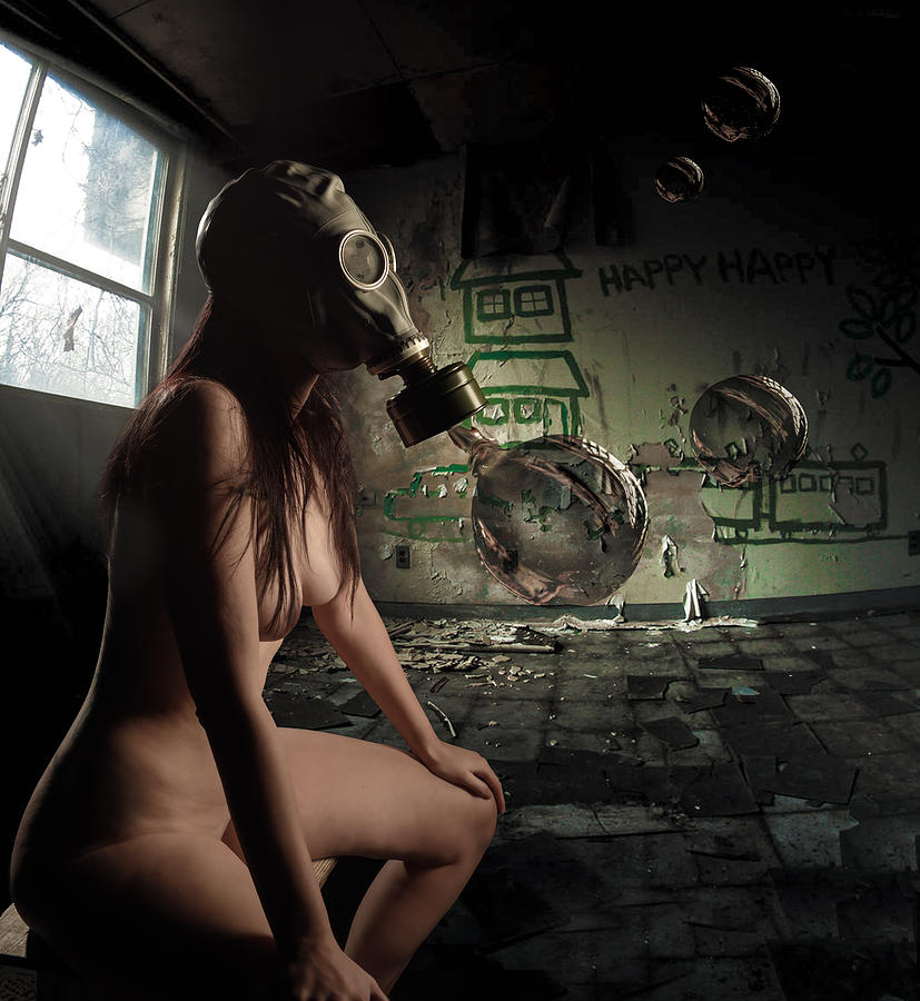 Gasmask Photograph - Pining For Lost Innocence by Craig Gum