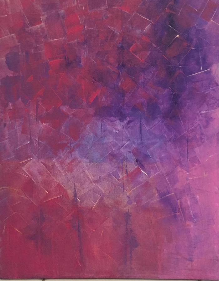 Landscaping Painting - Pink Abstract by Karla Calaca