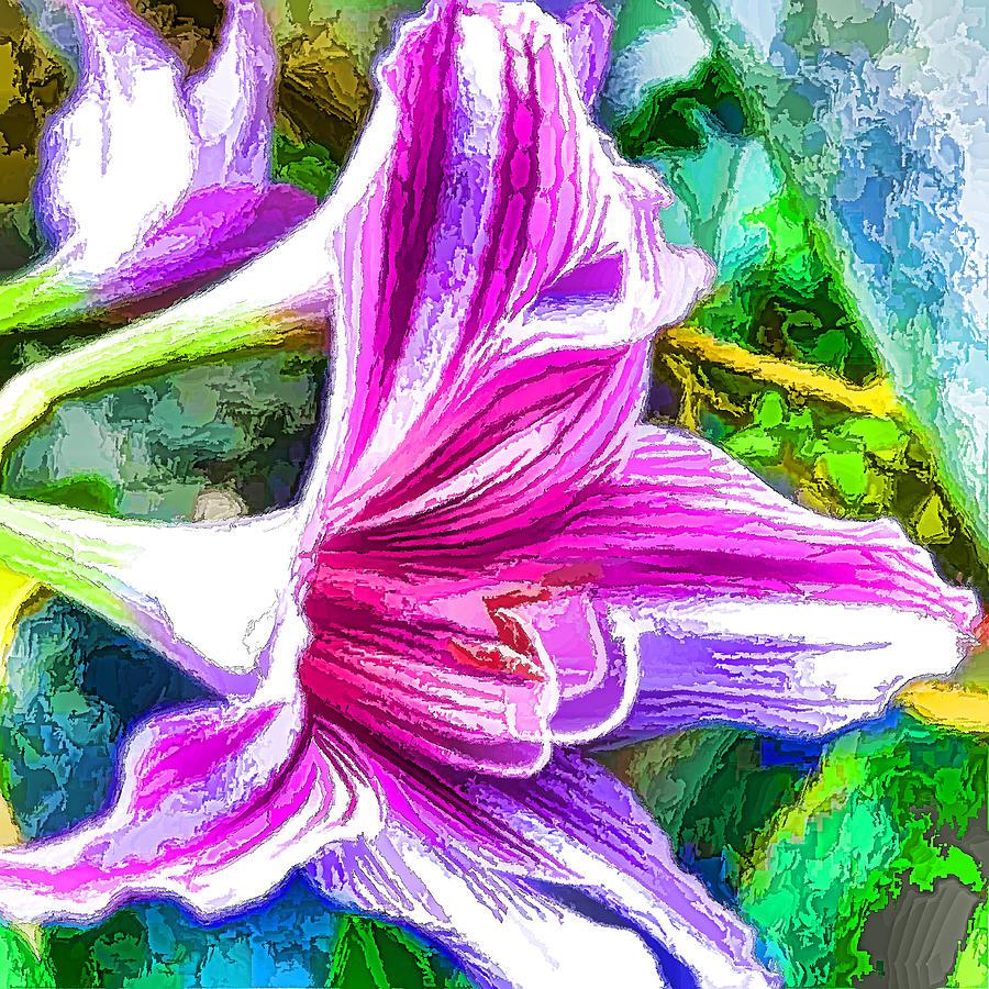 Pink Amaryllis Flower Painting By Jeelan Clark