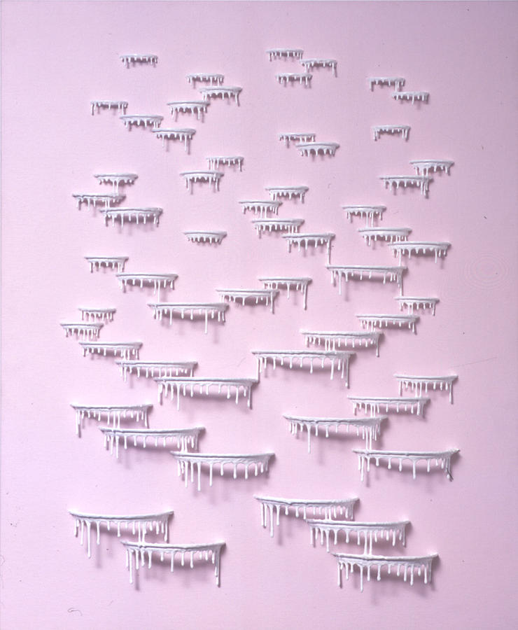 Pink Painting - Pink an White Terraces by Jarad Bryant