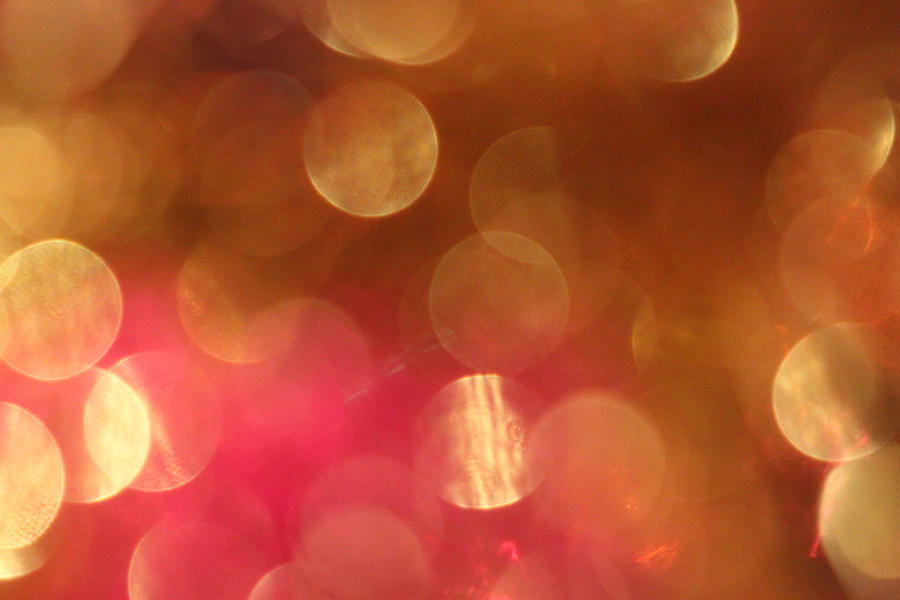 Pink And Gold Shimmer- Abstract Photography Photograph