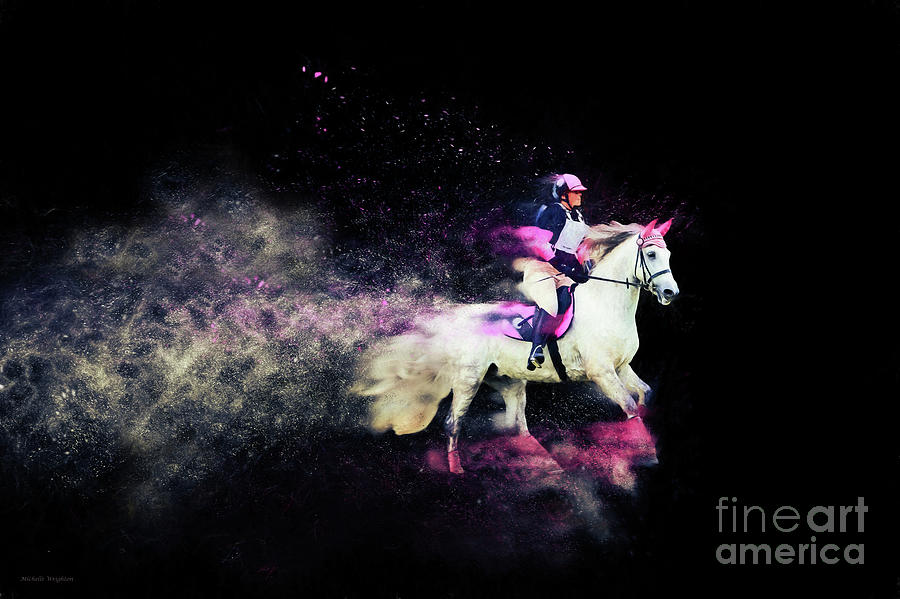 Pink and Grey Eventer - Colour Explosion by Michelle Wrighton