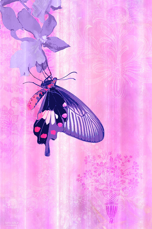 Butterfly Painting - Pink And Purple Companions 1 by JQ Licensing