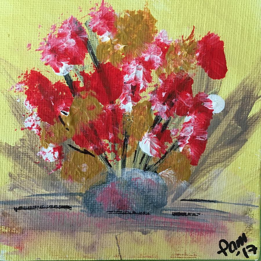 Pink And Red Flowers Painting By Pamela Vilinsky
