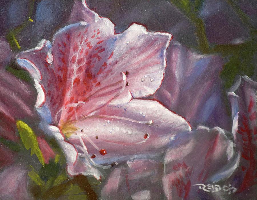 Acrylic Painting - Pink Azalea by Christopher Reid