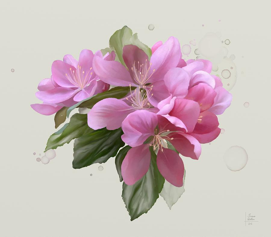 Floral Painting - Pink Blossoms by Ivana Westin