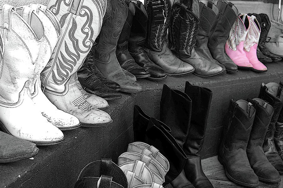 Boots Photograph - Pink Boots by Pamela Schwantes