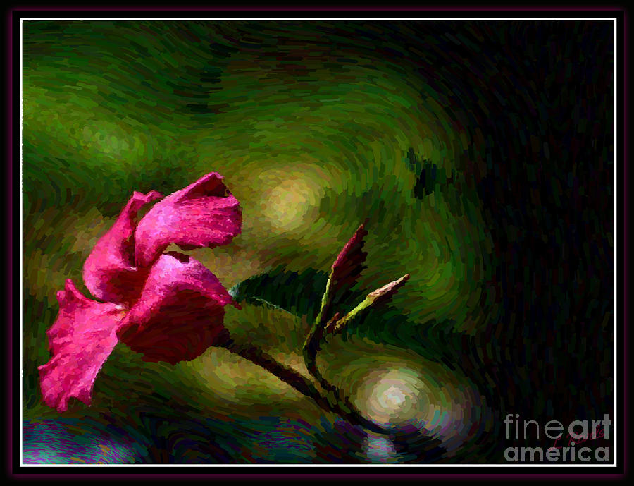 Pink Bud by Leslie Revels