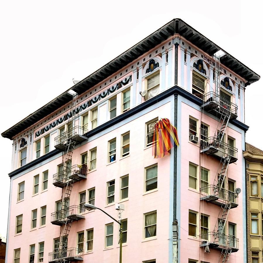Pink Building Photograph by Julie Gebhardt
