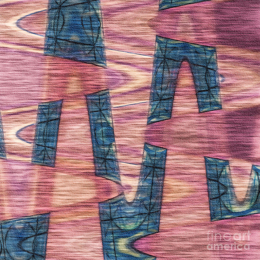 Pink by blue by Liz Leyden
