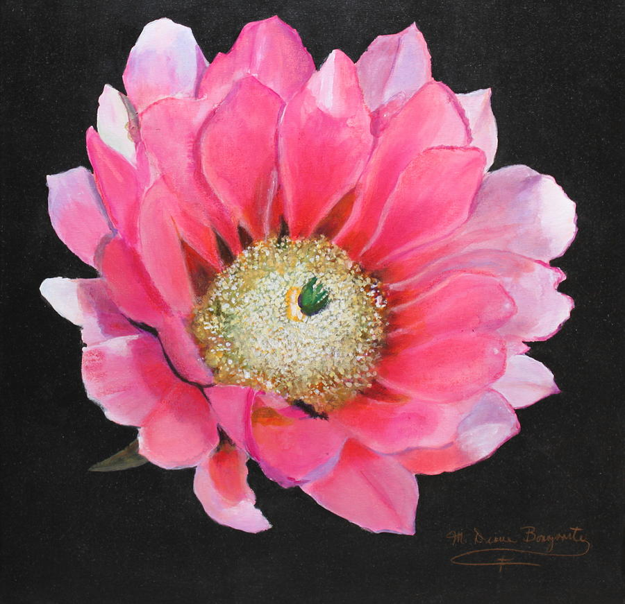 Pink cactus flower painting by m diane bonaparte floral painting pink cactus flower by m diane bonaparte mightylinksfo