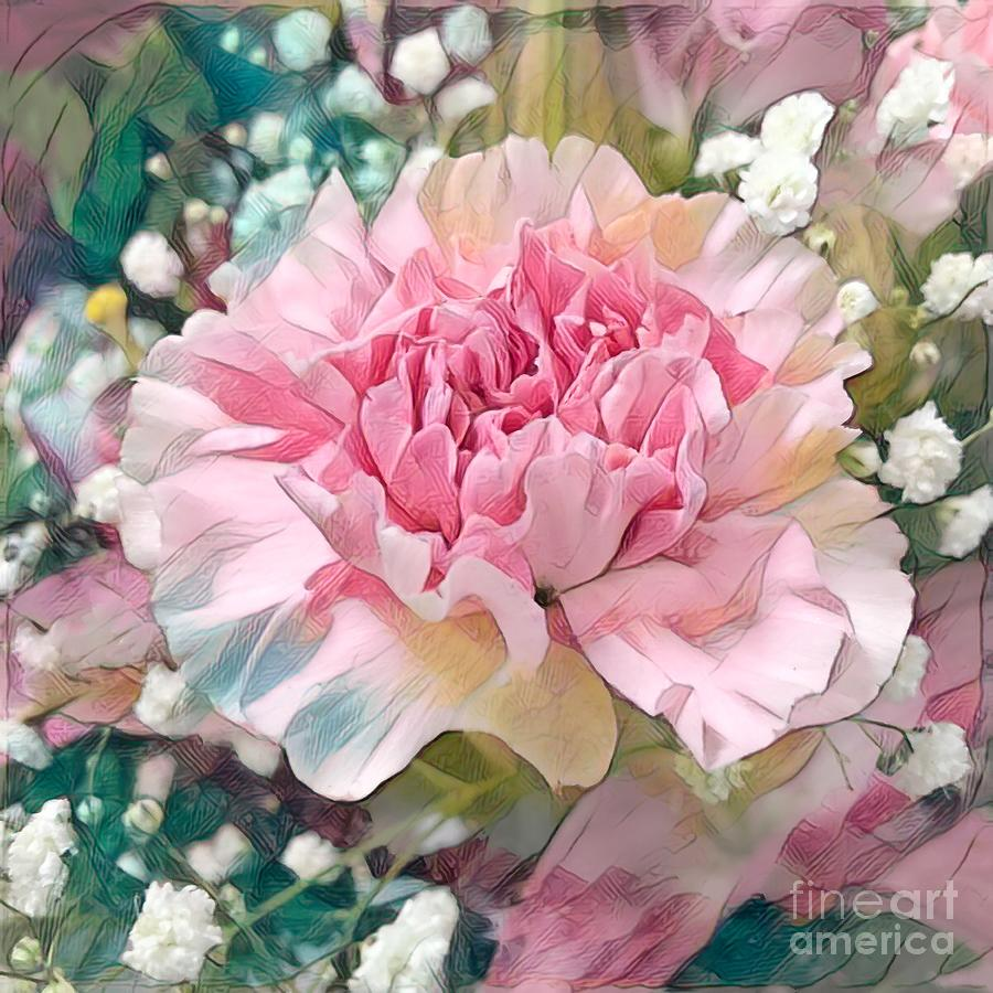 Carnation Photograph - Pink Carnation by Luther Fine Art
