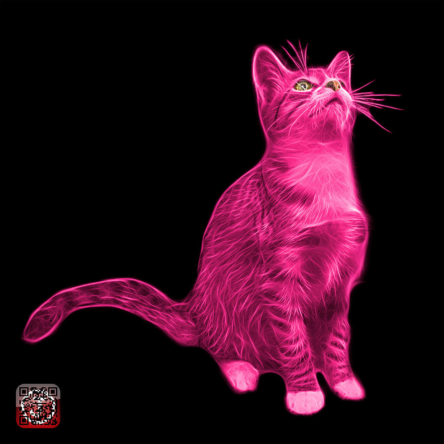 Pink Cat Art - 3771 BB by James Ahn