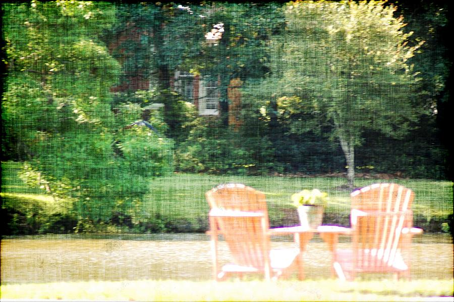 Chairs Photograph - Pink Chairs by Donna Bentley