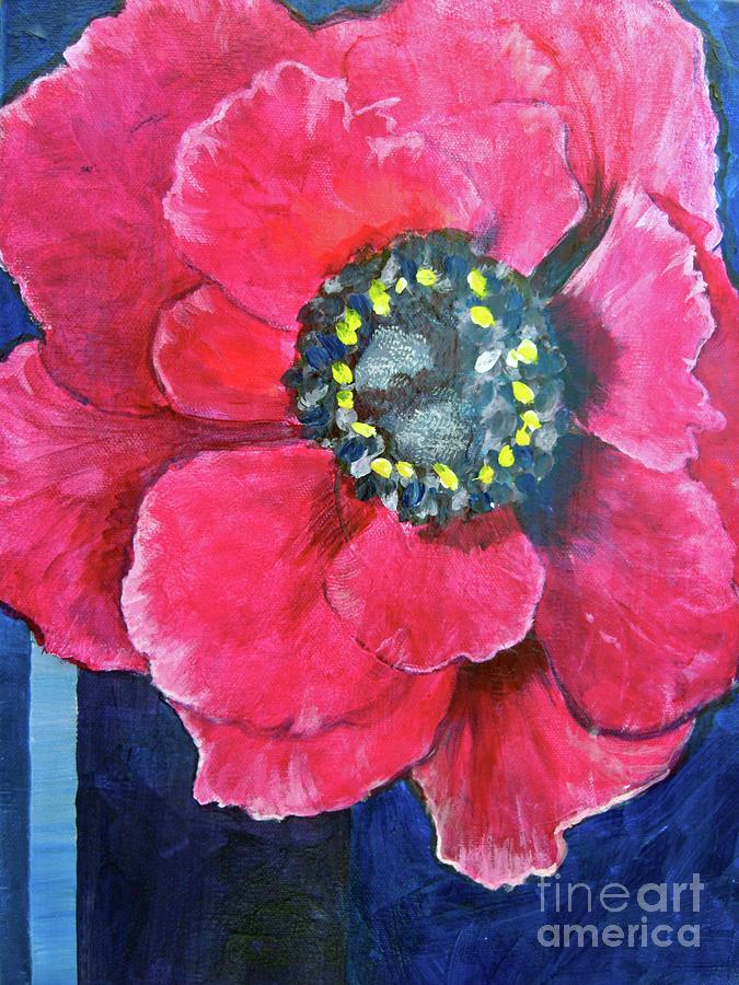 Pink Cheerful Flower by Kristen Abrahamson