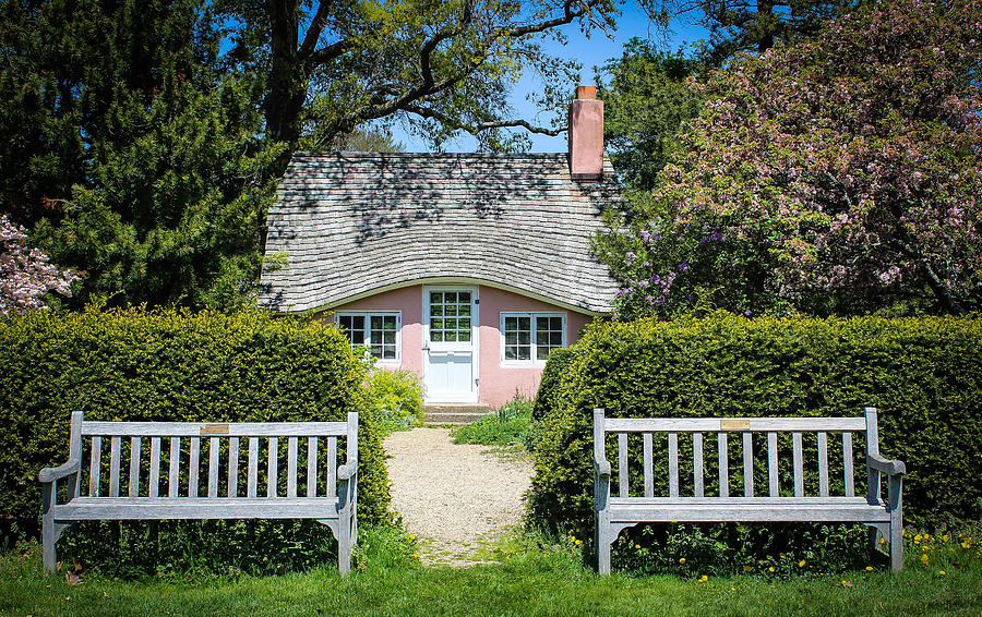 Cottage Photograph - Pink Cottage by Roderick Breem
